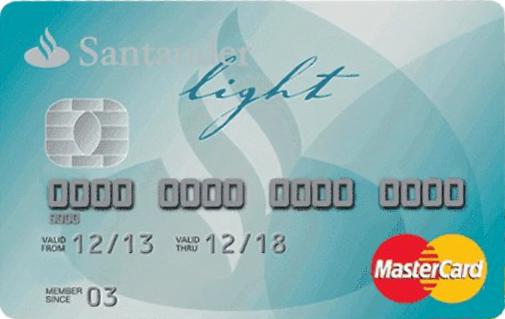 Tarjeta de Crédito Santander Light