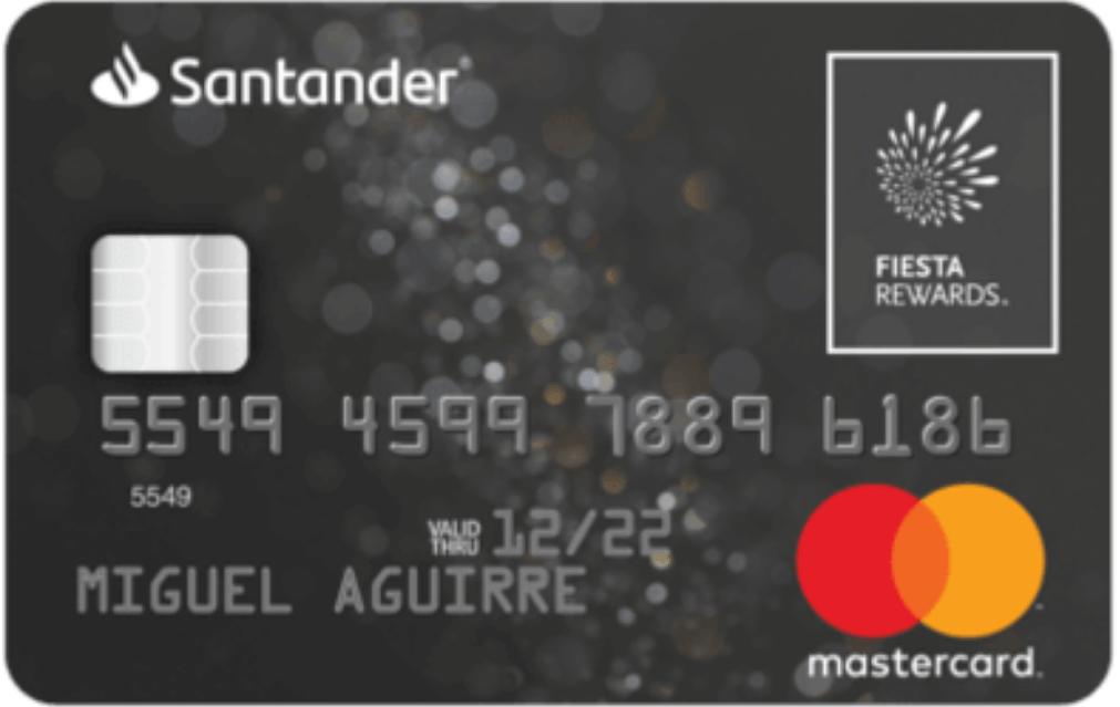 Tarjeta de crédito Santander Fiesta Rewards Platinum