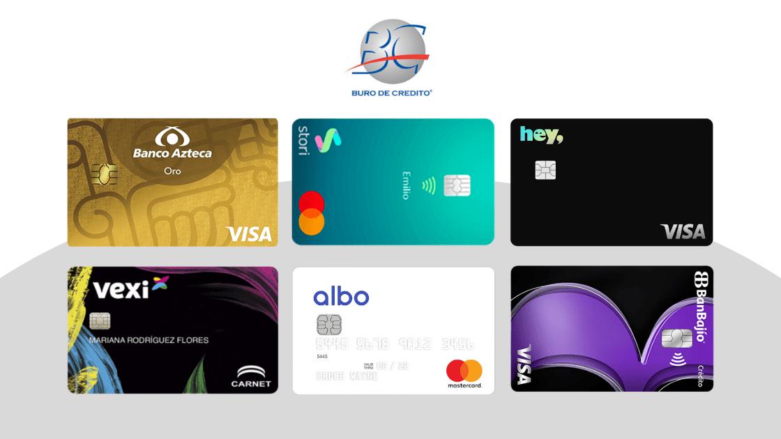 6 MEJORES tarjetas de crédito sin buró en 2021