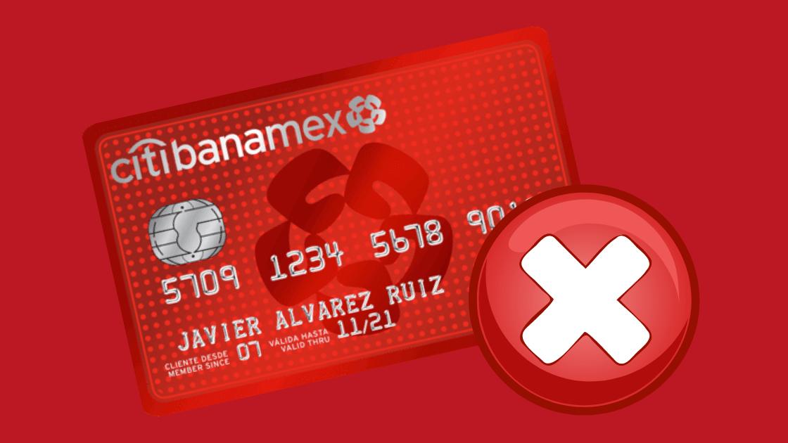 Cómo cancelar una tarjeta de crédito Banamex