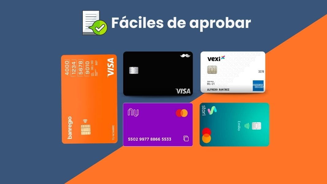 5 tarjetas de crédito fáciles de aprobar