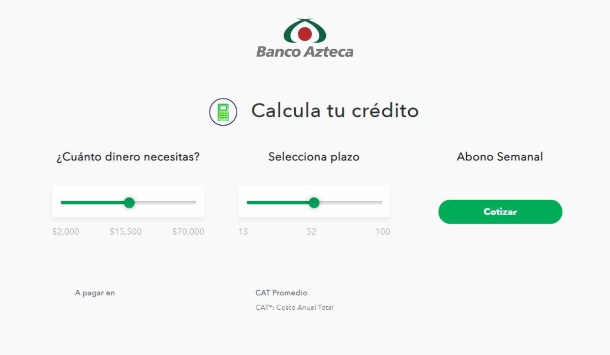 Simulador de préstamo personal Banco Azteca: Aprenda a usarlo